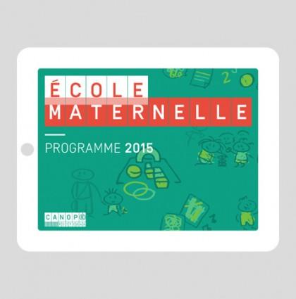 École Maternelle – Programme 2015